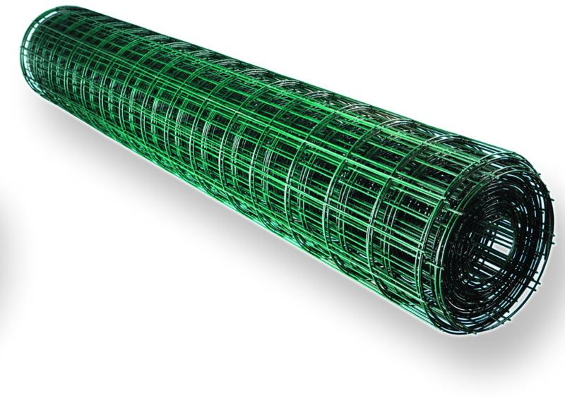Сетка сварная ПВХ яч.50х100мм d2,2мм (1,8мм+0,4мм ПВХ)1,8*15м зеленый - купить в Луге. ТД «Вимос»
